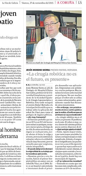 premio rafael hervada doctor Moreno